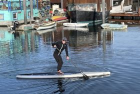 Jonathan Littman paddleboarding
